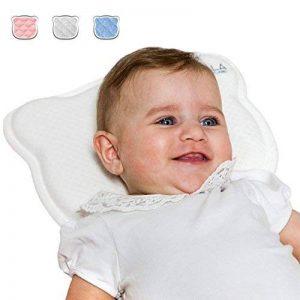 Coussin bébé par la plagiocéphalie (avec deux housses de protection détachables) et traitement de la tête plate à mémoire de forme qui évite l'asphyxie - Koala Babycare® - Perfect Head de la marque Koala Babycare image 0 produit