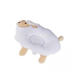 Inchant bébé Head Mise en forme d'oreiller, Mouton de protection couchage oreiller 2 en 1 Soins infirmiers en coton biologique oreiller Prévient reconduisons & plagiocéphalie ou tête plate Syndrome de la marque Inchant image 0 produit