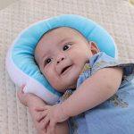 KAKIBLIN Oreiller bébé Nouveau-né Anti Tête Plate à Memoire de Forme Ergonomique Morphologique Ultra Souple Bourré de Soie, Bleu de la marque KAKIBIN image 3 produit