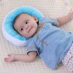 KAKIBLIN Oreiller bébé Nouveau-né Anti Tête Plate à Memoire de Forme Ergonomique Morphologique Ultra Souple Bourré de Soie, Bleu de la marque KAKIBIN image 2 produit