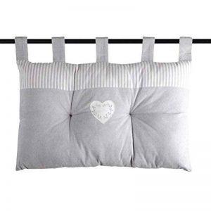 LOVELY CASA Chinon Tete Lit, Coton, Gris, 70 x 45 cm de la marque LOVELY-CASA image 0 produit
