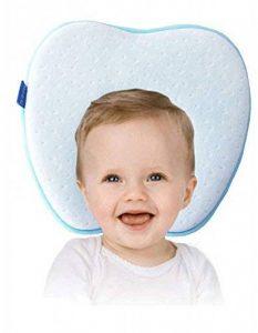 Oreiller bébé pour Plagiocéphalie | Évitez bébé tête plate et conserver une tête bien ronde | Oreiller memoire de forme Hypoallergénique pour votre Bébé nouveau-né | Coussin bébé prévient le syndrome à tête plate et la plagiocéphalie | Coussin de maintien image 0 produit