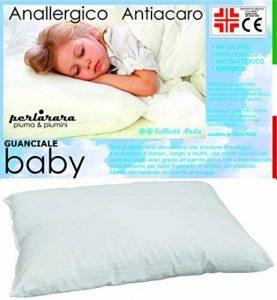 PERLARARA - Oreiller pour berceau en coton et fibre hypoallergénique, 40x 60cm, lavable de la marque PERLARARA image 0 produit