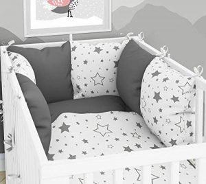 Tour de lit composé de 6coussins avec housses pour lit de bébé 60x120cm de la marque ELFIQUE image 0 produit