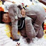 YQ CLZ-Doudou Peluche Nez Long Éléphant Poupée Coussin Douce Jouet Lombaire Animal Mignon Elephant Oreiller pour Bébés Enfants de la marque YQ image 2 produit